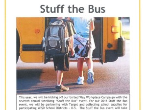 "United Way ""Stuff the Bus"" collection at Township Hall & Fire Station 2"
