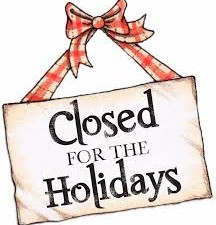 Holiday Hours – Office Closed Dec. 23 – Jan. 2